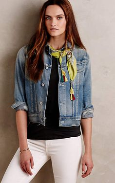 Citizens of Humanity Fitted Denim Jacket #anthrofave