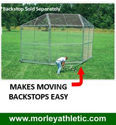 Softball Backstop | ... backstops. Makes moving your backstop easy with large wheels and a Baseball Field, Softball, Wheels, Diamond, Sports, Easy, Outdoor, Fastpitch Softball, Hs Sports