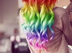 Rainbow~ rainbow ...i love~~ hair..(y)