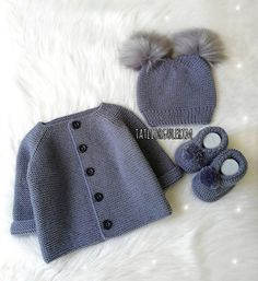 Lot Order 57 Baby Vest Cardigan Booties Knitting Models – The Best Ideas Baby Knitting Patterns, Baby Booties Knitting Pattern, Baby Girl Patterns, Knitting For Kids, Knitting For Beginners, Crochet For Kids, Knitting Designs, Crochet Baby, Knitting Projects