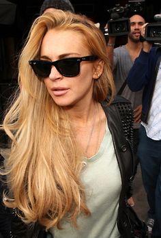 Love her Raybans #Lindsay Lohan