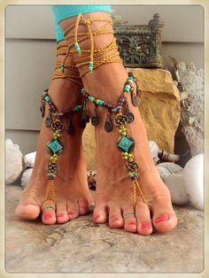 Pied de Native Cowgirl Toe tongs Nomad Gypsy mariage par GPyoga