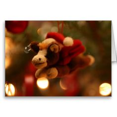 Christmas Pony with Santa Hat and Wings Greeting Card: greeting card, note card, christmas card, merry christmas, seasons greetings, holiday greeting card, winter