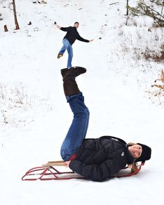 Don't forget to have some fun with your #winter photo shoots, like these two!