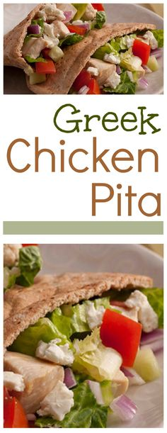 Greek Chicken Pita - 21 Day Fix