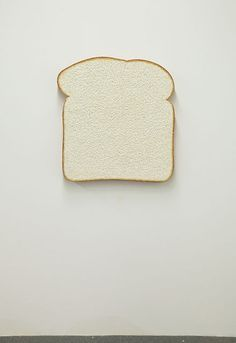 Tom Friedman Untitled (White Bread), 2013 Styrofoam and paint 36 × 36 × 3 7/8 in 91.4 × 91.4 × 9.8 cm Courtesy of the artist and Luhring Augustine, New York