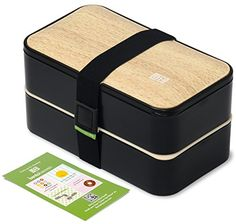 Buy Original BentoHeaven Bento Box Bundle with FREE Lunch Bag, Divider, Utensils, Chopstick & Fun Lunch Box Notes - Leakproof Lunch Boxes - Bamboo Black Lunch Box Bento, Japanese Bento Box, Boite A Lunch, Cool Lunch Boxes, Lunch Box Notes, Black Food, Lunch Containers, Employee Gifts, Chicken Meal Prep