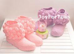 Crochet Women Boots Slippers Princess Onecolored by JoyForToes