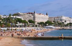 Cannes, La Croisette, Hotel Carlton  Find Super Cheap International Flights to Cannes, France ✈✈✈ https://thedecisionmoment.com/cheap-flights-to-europe-france-cannes/