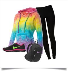 """Workout Outfit"" by moriah-dufrin on Polyvore outfit sets, style, gear, cloth, workout outfits"