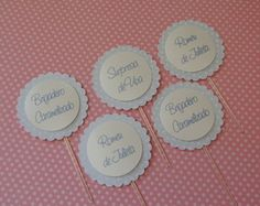 Cod 08534 - Toppers p/ identificar doce