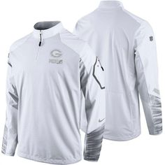 Nike Green Bay Packers White Platinum Pullover Performance Jacket #packers #nfl #football
