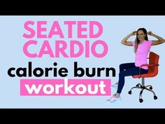 SEATED CARDIO WORKOUT - CHAIR EXERCISES - NO STANDING WORKOUT - SEATED CARDIO BY LUCY WYNDHAM-READ - YouTube Walking Exercise Video, Lucy Wyndham, Calorie Burning Workouts, Arm Workouts At Home, Chair Exercises, Workout At Work, Burn Calories, Workout Videos, Cardio
