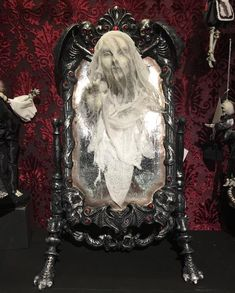 9238508421c Katherine s Collection Haunted Mirror with Ghost
