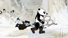WANDERPANDA - trickfilmlounge, illustration, handdrawn, panda, old lady