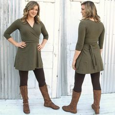 332a4366e19 This solid wrap dress is a little shorter than most Yana Dee wrap dresses
