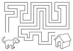 Mazes For Kids Printable, Printable Preschool Worksheets, Worksheets For Kids, Aba Therapy Activities, Preschool Learning Activities, Toddler Activities, Pre Writing, Writing Skills, Logic Games For Kids