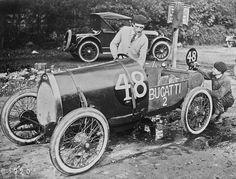 """22/10/1921, 200 miles of Brooklands, Bugatti Type 13 """"Brescia"""""""
