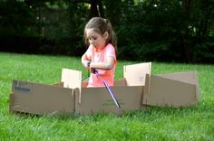 DIY Cardboard Construction Play Set | Inner Child Fun