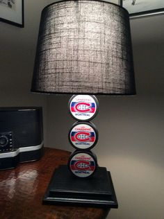 Montreal Canadiens Hockey Puck Lamp on Etsy, $65.00