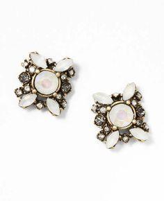 Opalescent Floral Stud Earrings $34.50