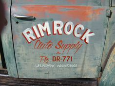 No, it ain't a door. It's the trunklid of my coupe. Vintage Pickup Trucks, Classic Chevy Trucks, Old Trucks, Truck Lettering, Vintage Lettering, Painted Doors, Painted Signs, Car Signs, Truck Signs