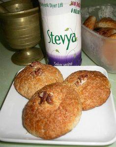 Cevizli Kurabiye (Diyabetik Şekersiz)  -  Nurdan Çakır Tezgin #yemekmutfak.com Şeker hastası olmak kurabiyeden uzak durmayı gerektirmemeli! Tadımlık yemek kaydıyla tabii.