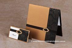 Old Gold : Invitation  http://blacktieweddinginvitations.com.au/galleries/classic-wedding-invitations/old-gold