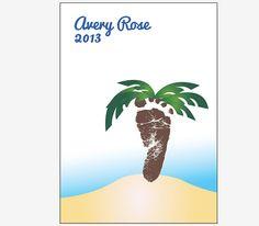 Personalized Baby Footprint Art Beach Nursery by redmorningstudios, $24.99