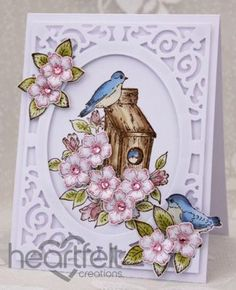 A project perfect for #fathersday w/ Birds and Blooms collection from Heartfelt Creations