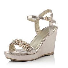 wedge heel dress shoes | Women's Shoes PU Spring / Summer / Fall Wedges Heels Party & Evening ...