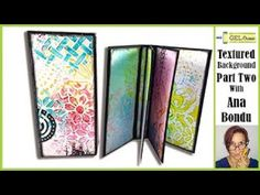(345) Gel Press Create textured backgrounds with stencils Part Two by Ana Bondu - YouTube Gelli Plate Printing, Gel Press, Paper Crafts Origami, Old Boxes, Ink Stamps, Textured Background, Mini Albums, Stencils, Backgrounds