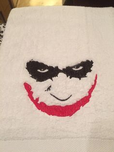 Joker's smile machine embroidery design