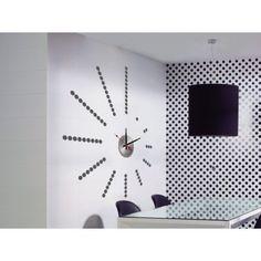 Vinilo reloj Spiral negro - Stick`N`Watch - MooiMaak. Ventas privadas de decoración e interiorismo