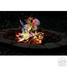 Rainbow Flame Sticks - Rutland Fire Clay 715CB - Fire Pits - Camping World