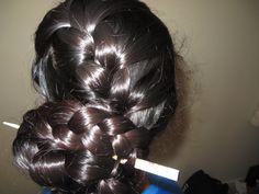 diagonal french braid into a bun Bun Hairstyles For Long Hair, Braids For Long Hair, Indian Hairstyles, Braided Hairstyles, Eva Hair, Indian Long Hair Braid, Thick Braid, Hair Mask For Growth, Camila