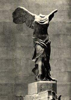 Winged Victory of Samothrace at the Louvre. Perfect.