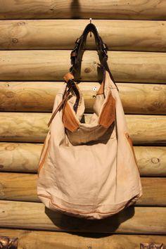 borsa in canvas vintage e pelle di LaSellerieLimited su Etsy, $198,00