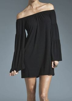 Bell Sleeve Dress  - LOVE THIS!!  Could be a dress or with skinny jeans/leggings $79