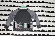 handmade house applique boys shirt