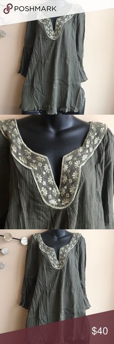 Plus size 3X tunic/ cover up Brand new embroidered tunic / cover up . 100% cotton . Missing tags . Tops Tunics