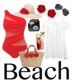 """Beach Day"" by felidzi on Polyvore featuring Eugenia Kim, Madewell, Polaroid and Yves Saint Laurent"