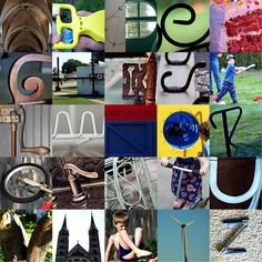 letters of the alphabet in photos - need to do this!