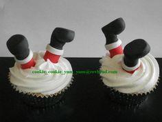 12 edible 3d CHRISTMAS SANTA LEGS cake cupcake decoration novelty topper cute…