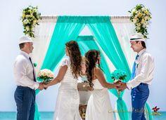 Double the memories. Double weddings at Caribbean Wedding Agency! #wedding #weddingindominican #caribbean #caribbeanweddingagency