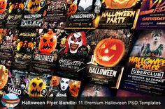 Flyerheroes Halloween PSD Bundle by FlyerHeroes on Creative Market