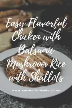 AD: Rich and flavorful, Balsamic Mushroom Rice with Shallots is a delightful side dish perfect for serving with Tyson® Smokehouse Seasoned Chicken Breasts​. This quick and easy meal will satisfy.  #Tyson #FreshShortcuts #MealtimeShortcuts #TysonFreshShortcuts @tysonfoods