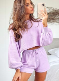 Buy Low Tide Knit Jumper - Purple at Peppermayo online now. Browse the latest fashion trends, & more! Shop with Afterpay. Black Midi Skirt, White Skirts, Mini Skirts, Purple Outfits, Blue Dresses, Sweater And Shorts, Jumper, Two Piece Outfit, Latest Fashion Trends