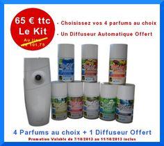 Diffuseur sequentiel automatique avec recharges de parfums  - KIT OPAL AIR