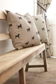 Black Labrador Cushions